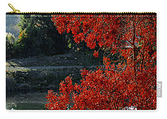 Flame Red Tree Carry-all Pouch by Susan Wiedmann