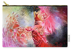 Flamencoscape 13 Carry-all Pouch by Miki De Goodaboom