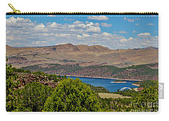 Carry-all Pouch featuring the photograph Flaming Gorge by Janice Rae Pariza