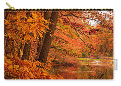 Flaming Leaves Carry-all Pouch by Lourry Legarde