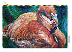 Flamingo Flare Carry-all Pouch