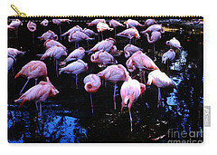 Carry-all Pouch featuring the photograph Flamingo - Florida - Animals by Susan Carella