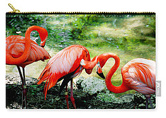 Flamingo Friends Carry-all Pouch