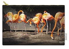 Flamingo Hangout Carry-all Pouch