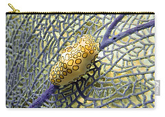 Flamingo Tongue Snail On Purple Fan Coral Carry-all Pouch