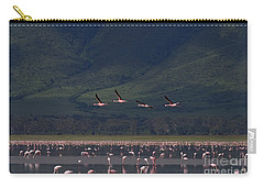 Carry-all Pouch featuring the photograph Flamingos  #6590 by J L Woody Wooden