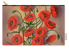 Flander's Poppies Carry-all Pouch