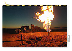 Flare And A Vacuum Truck Carry-all Pouch by Jeff Swan