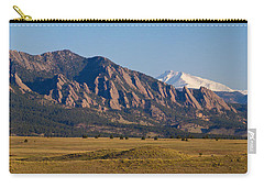 Flatirons And Snow Covered Longs Peak Panorama Carry-all Pouch