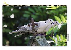 Fleur De Lis Dove Love Carry-all Pouch by Luana K Perez
