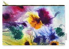 Fleurs Carry-all Pouch by Joan Hartenstein