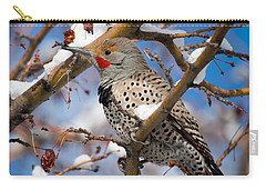 Flicker In Snow Carry-all Pouch by Nadja Rider