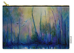 Flight In Morning Symphony Carry-all Pouch by Alison Caltrider