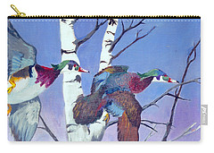 Carry-all Pouch featuring the painting Flight Of Fancy by Jason Girard