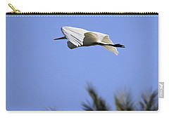 Carry-all Pouch featuring the photograph Flight Of The Egret by Penny Meyers