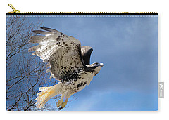 Flight Of The Red Tail Carry-all Pouch by Bill Wakeley