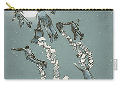 Flight Of The Salary Men Carry-all Pouch