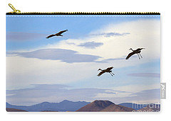 Flight Of The Sandhill Cranes Carry-all Pouch by Mike  Dawson