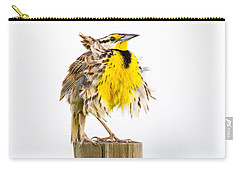 Flluffy Meadowlark Carry-all Pouch by Bill Swindaman