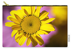 Carry-all Pouch featuring the photograph Floating Daisy by Joy Watson