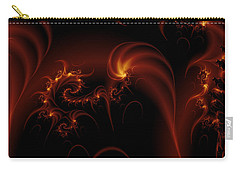 Floating Fire Fractal Carry-all Pouch