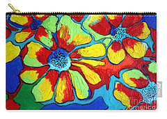 Floating Flowers Carry-all Pouch by Alison Caltrider