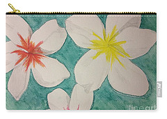 Floating Plumeria Carry-all Pouch
