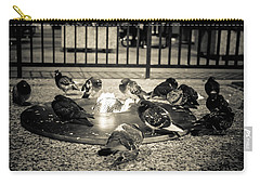 Flockin' Around The Fire Carry-all Pouch by Melinda Ledsome