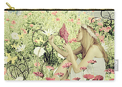 Flora Carry-all Pouch by Linda Lees