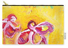 Abstract Flowers Silhouette No 14 Carry-all Pouch