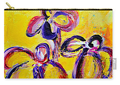 Abstract Flowers Silhouette No 9 Carry-all Pouch