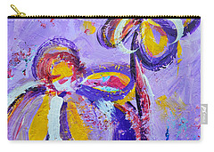 Lavender Abstract Flowers No 8  Carry-all Pouch