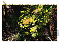 Carry-all Pouch featuring the digital art Floral Expression 020215 by David Lane
