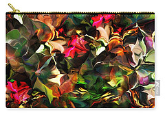 Carry-all Pouch featuring the digital art Floral Expression 121914 by David Lane
