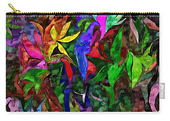 Carry-all Pouch featuring the digital art Floral Fantasy 012015 by David Lane