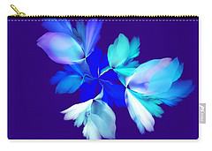Carry-all Pouch featuring the digital art Floral Fantasy 012815 by David Lane
