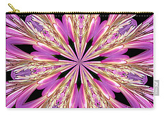 Floral Kaleidoscope  Waterlily Carry-all Pouch by Rose Santuci-Sofranko