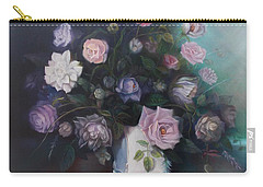 Floral Still Life Carry-all Pouch by Marlene Book