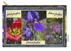 Carry-all Pouch featuring the photograph Floral Tenses by Larry Bishop