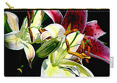 Carry-all Pouch featuring the photograph Florals In Contrast by Ira Shander