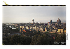 Carry-all Pouch featuring the photograph Florence Form The Piazza Michalengelo by Belinda Greb