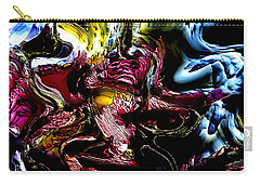 Carry-all Pouch featuring the digital art Flores' Darker More Uncomfortable Twin by Richard Thomas