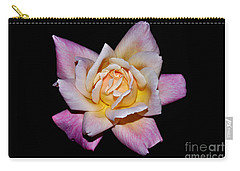 Carry-all Pouch featuring the photograph Floribunda Rose In Full Bloom by Susan Wiedmann