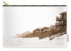 Florida Beach Sepia Print Carry-all Pouch