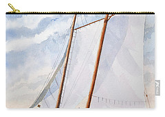 Carry-all Pouch featuring the painting Florida Catboat At Sea by Roger Rockefeller
