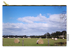 Carry-all Pouch featuring the photograph Florida Hay Rolls by D Hackett