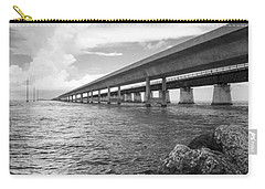 Florida Keys Seven Mile Bridge South Bw Vertical Carry-all Pouch