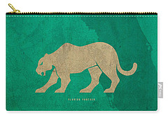 Florida State Facts Minimalist Movie Poster Art  Carry-all Pouch by Design Turnpike