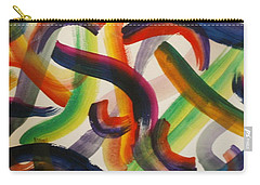 Carry-all Pouch featuring the painting Flow by Thomasina Durkay