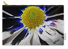 Art. White-black-yellow Flower 2c10  Carry-all Pouch